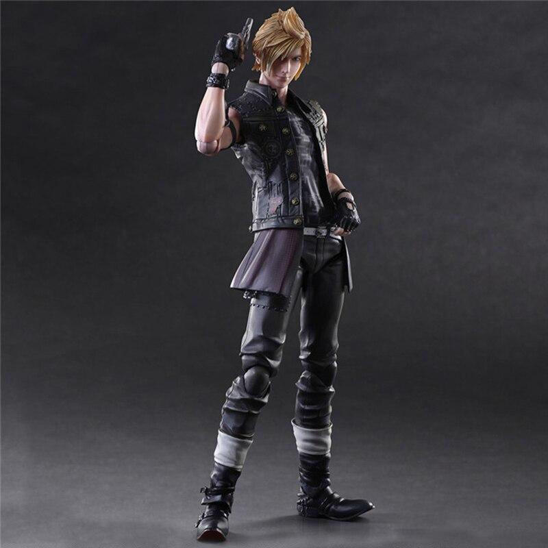Authentic PlayArts Final Fantasy XV PROMPTO ARGENTUM Action Figure no box