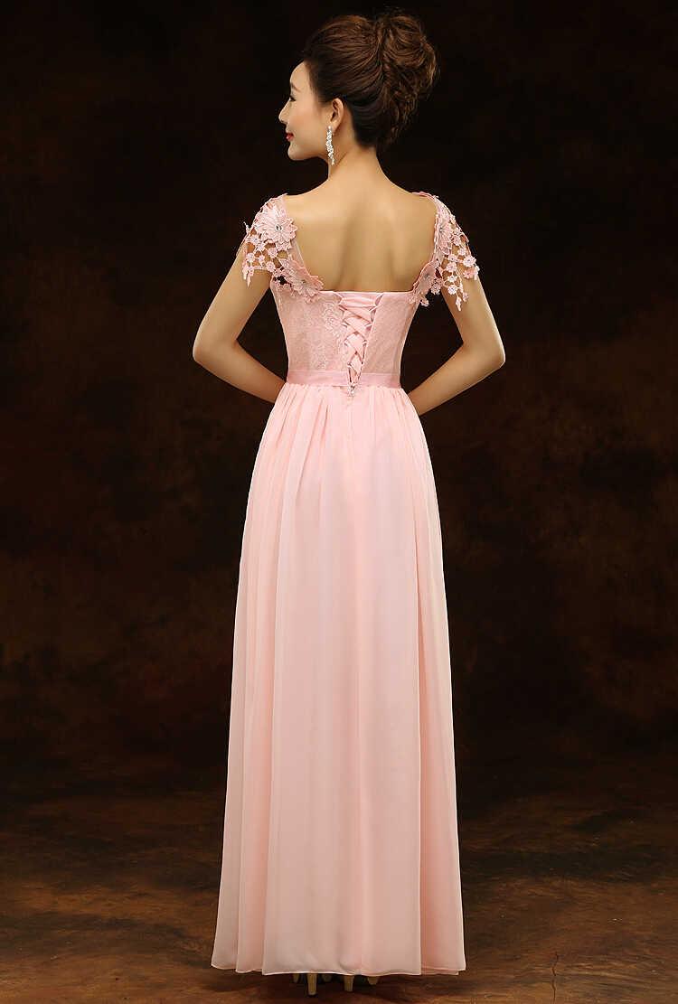 ... light pink floor length dress top chiffon women long formal bridesmaids  sexy bridesmaid dresses gown 2019 67598b6f2f2a