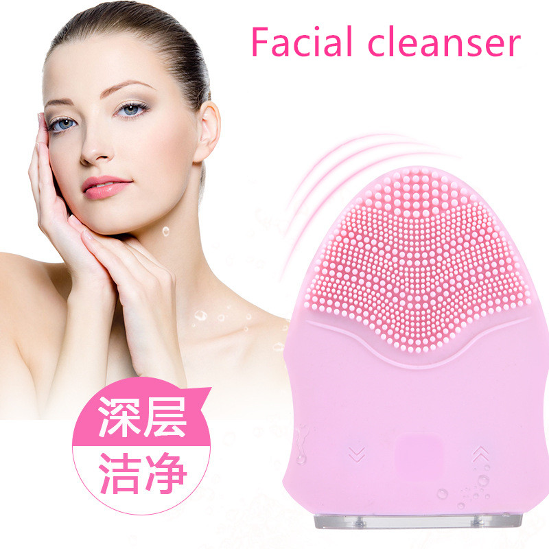 Electric face massage washing machine, facial Pore Cleaner, beauty instrument, silicon facial cleansing brush, face cleanser electric 3d silicone massage ultrasonic facial cleansing brush beauty instrument pores cleaner face vibration spa usb recharge