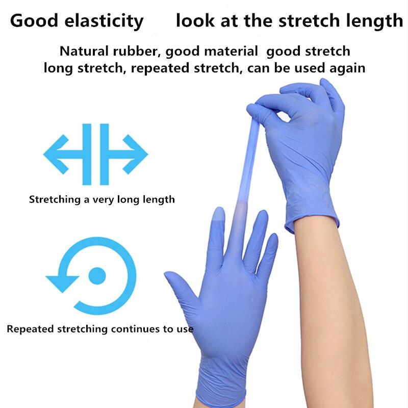 100pcs Disposable Latex Rubber Gloves