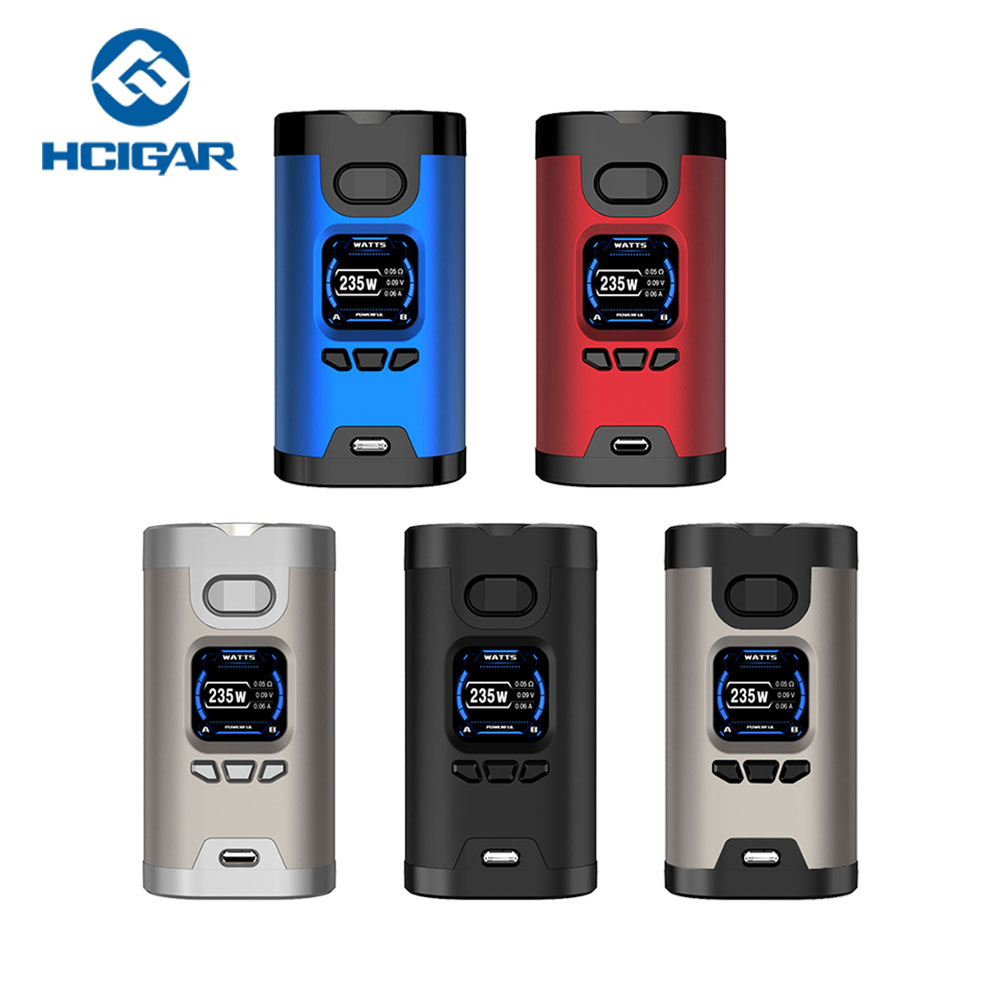 Original Hcigar Wildwolf TC MOD with 235W Max Output & Towis XT235 Chipset & 1.3 Inch TFT Color Screen No 18650 Battery Ecig Mod стоимость