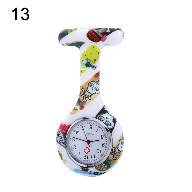 Silicone Fashion Silicone Nurses Watch Brooch Tunic Fob Pocket Stainless Dial Watches  AIC88