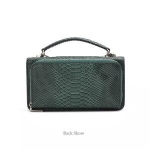 Image 4 - XMESSUN Luxury Genuine Python Leather Hand Bags Cross Body Shoulder Bag Snakeskin Designer Day Clutch Chain Crossbody Bag