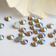 2058HF SS16,SS20 Light colorado Topaz AB Hot Fix Flatback Loose Rhinestones Hot Fix Iron On Glass Crystals Stone DIY