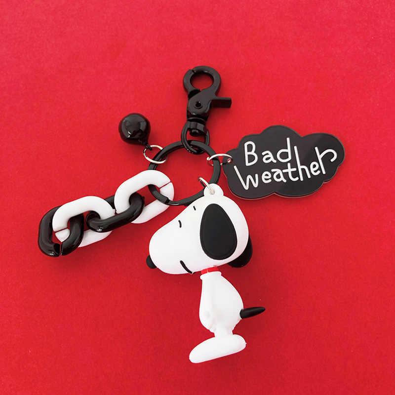 Nova ins bonito dos desenhos animados charlie brown chaveiro para senhoras saco de carro criativo encantos acessórios anime chaveiro presentes do namorado