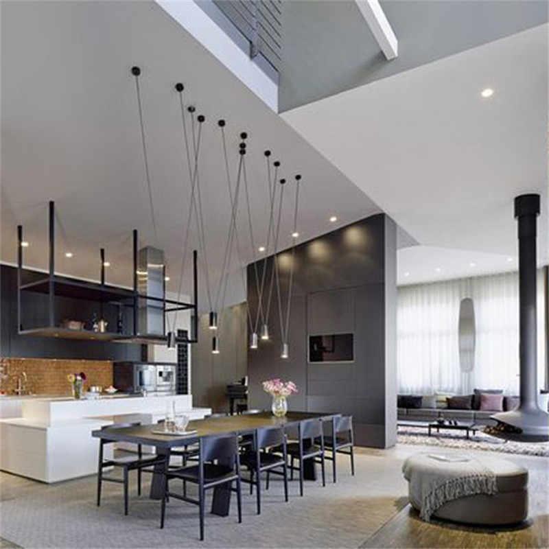 Современный светодиодный подвесной светильник с черной линией, подвесной светильник DIY, геометрический светильник для гостиной, столовой, подвесной светильник