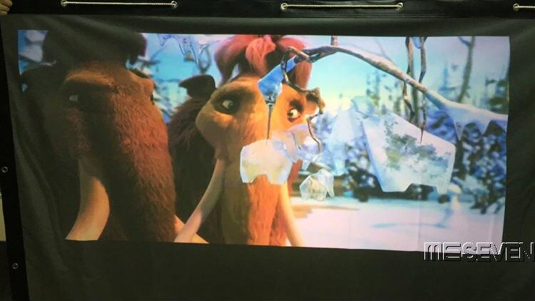 120 Inches 4:3 Wandmontage Fast Fold Projectiescherm Achter Gordijn Terug Film Voor Elke 3d Hd Led Android Projectoren Projectie