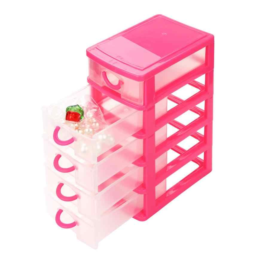 Colorful Home Storage Durable Plastic Mini Desktop organizer Drawer Sundries Case Small Objects Cosmetic Sundries Storage Tools