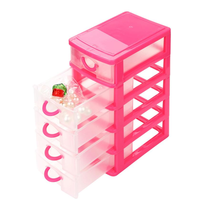 2017 Colorful New Home Storage Durable Plastic Mini Desktop Drawer Sundries Case Small Objects Storage Tool Drop Shipping#28