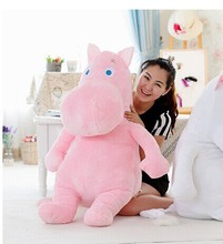 huge pink creative hippo toy plush doll cartoon moomin hippo doll pillow birthday gift toy about 100cm