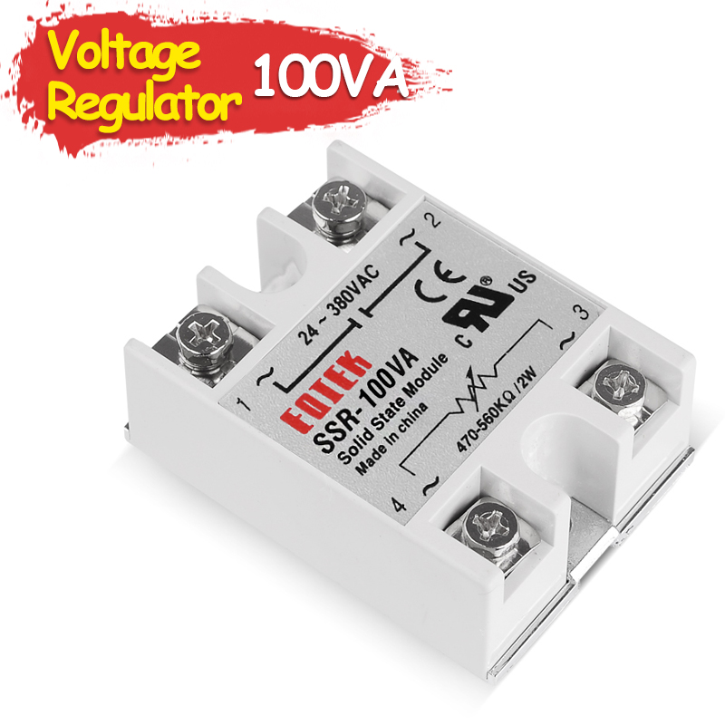 SSR-100VA Single Phase Solid State Relay Volt Regulator Shift Module Voltage Regulator Fully Isolated SSR Resistance