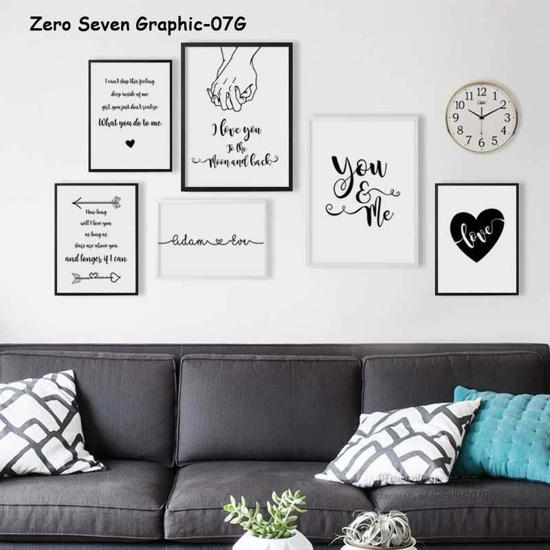 Custom Name Sweet Phrase Canvas Painting Poster And Print Living Room Wall Art Picture Home Decoration