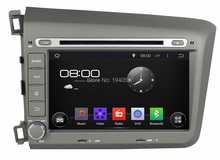 Quad Core HD 2 din 8″ Android 5.1 Car dvd player for Honda Civic 2012 2013 With GPS 3G WIFI Bluetooth TV Radio USB DVR 16GB ROM