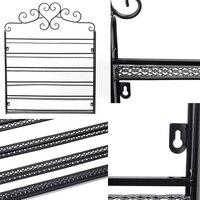 Nail Polish Display Shelf European Style 6 Layer Wall Mount Rack Heart Shape Cosmetics Stand Frame
