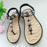 HEYIYI Women Sandals Wedges Toe Knob Soft Sole Leather Flats Shoes EVA Comfort Fashion Gladiator Flip