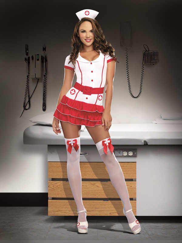 780239067cb35 ... Naughty Nurse Costume - Women Doctor Cosplay Party Costume Sexy  Hospital Hottie White Nurse Costume ...