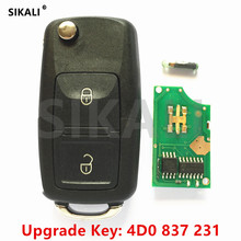 SIKALI Car Remote Key for Audi A2, A3/B5, A4, A4 Quattro,A6, A6 Quttro RS 1997 – 2002 Part Number 4D0837231 / 4D0 837 231