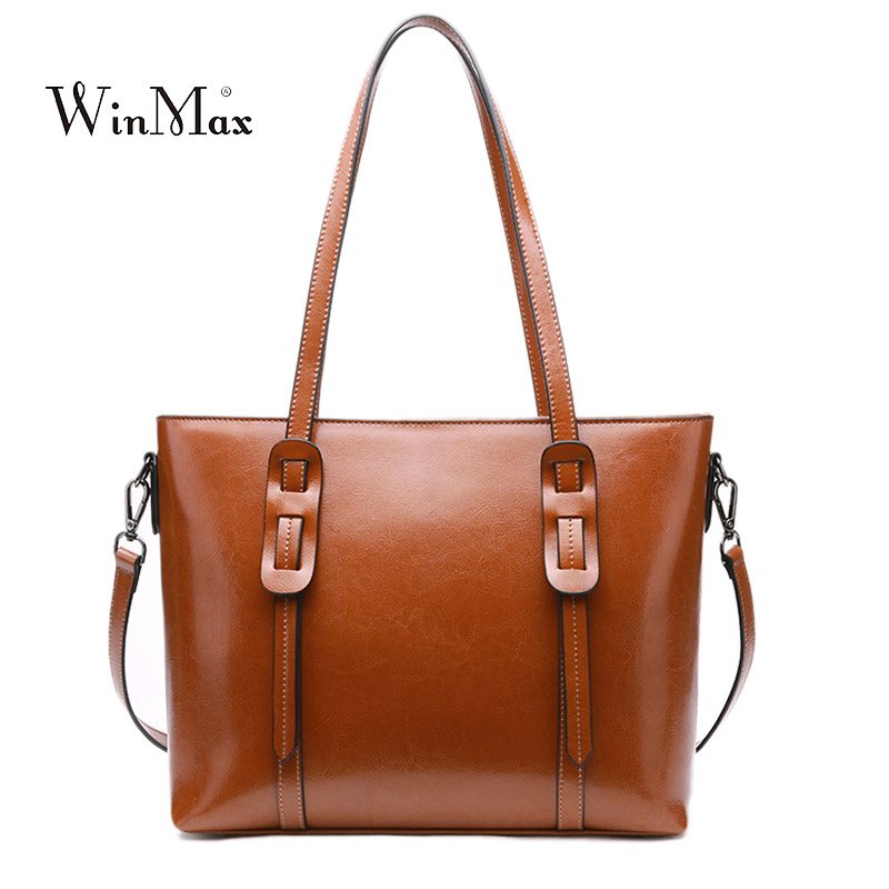New Women Genuine Leather Handbags Female Vintage Shoulder Bag Women's Real Cow Leather Hand Tote Bags Messenger Bolsas Ladies new women genuine leather handbags shoulder bag oil wax cow leather tote bags female vintage handbags sac a main ladies hand bag