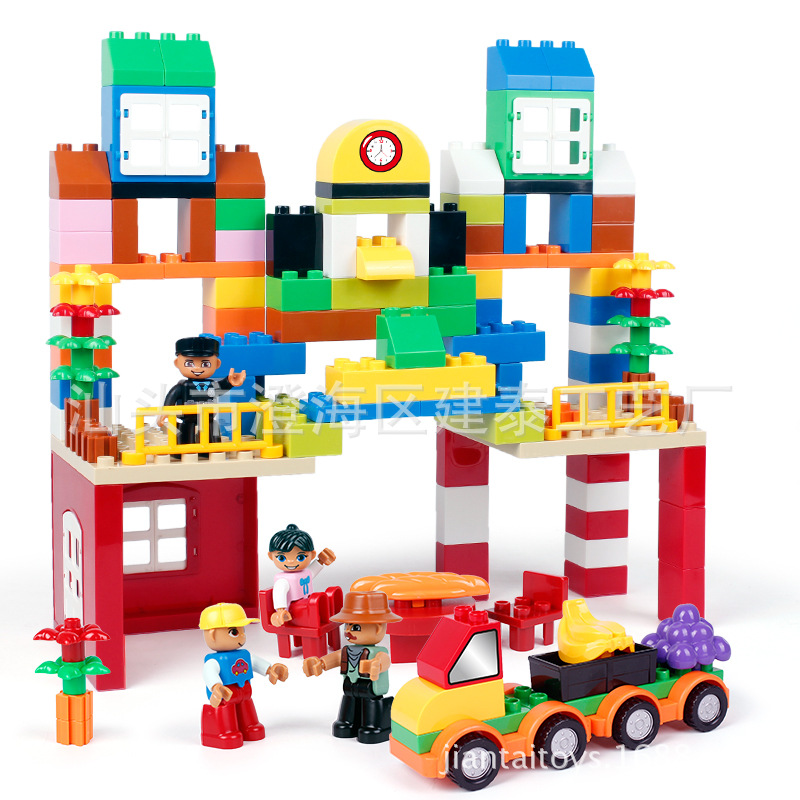150pcs Classic Building Blocks My First Blocks Set with 9pcs Numbers Fruit Vegetables Stickers Children Role Paly Toys150pcs Classic Building Blocks My First Blocks Set with 9pcs Numbers Fruit Vegetables Stickers Children Role Paly Toys