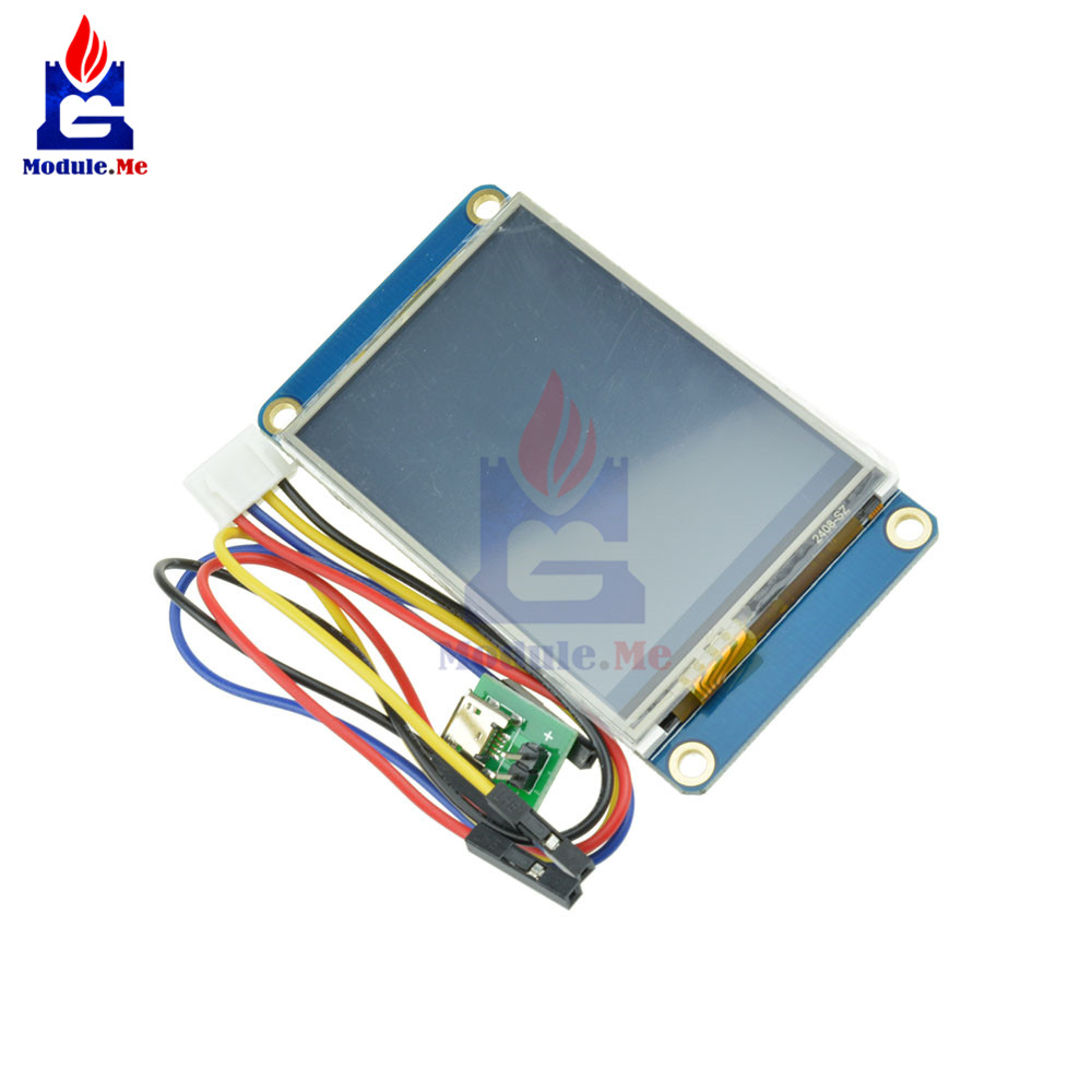 "2.4"" Nextion USART HMI Serial TFT 320*240 Touch Screen LCD Display Module 4 Pin Wire Connector for Arduino Raspberry Pi 2 A+ B+"