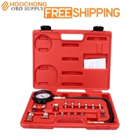 TU 15A Car Style Diesel Engine Compression Cylinder Pressure Tester Gauge Kit 0 1000psi Dhl Free