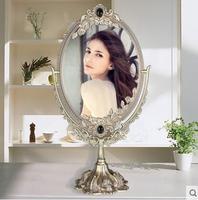 الأوروبية الرجعية كبيرة الحجم دوبلي وجه الزجاج مرآة معدنية مستديرة مرآة الحمام مرآة المرايا الزخرفية للمنزل الديكور 330c