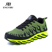 Running shoes for men 2016 flywire high quality sneakers breathable mesh sport shoes39-44