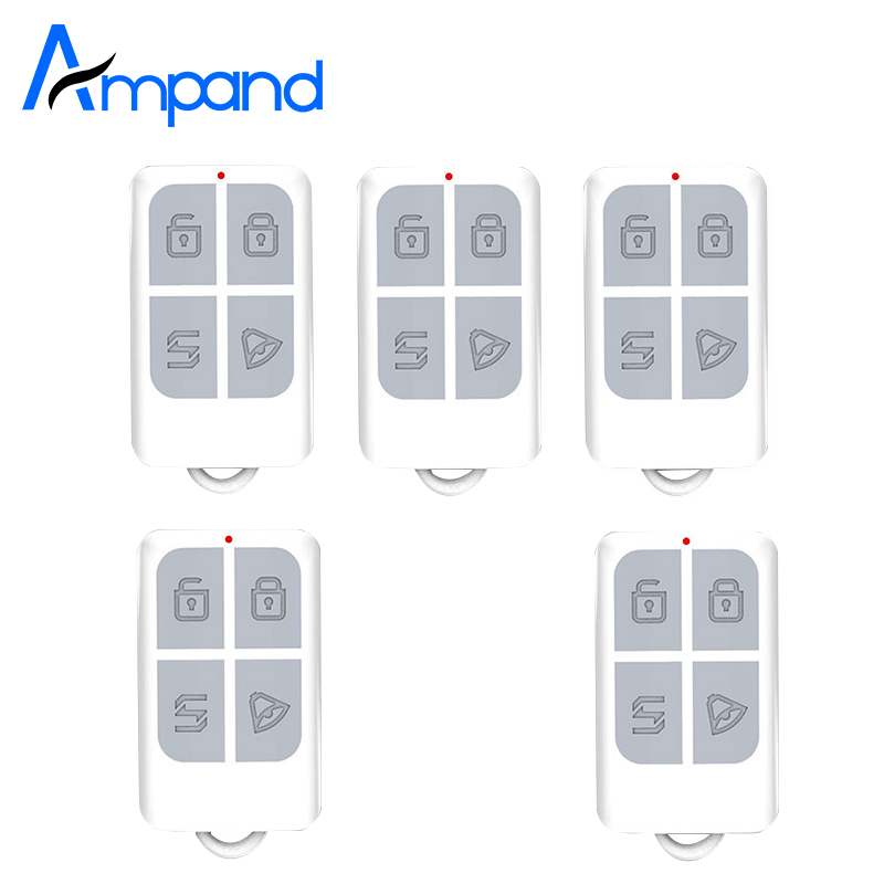 5pcs/lot Wireless Remote Control Alarm Accessory Key For My Home Alarm System 1pcs Free Shipping 5pcs lot free shipping 433hmz black metal wireless remote control for home security alarm system