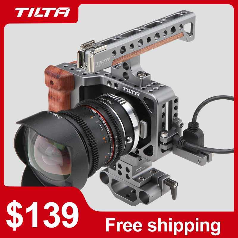 Tilta BMPCC Cage Camera Kooi voor Blackmagic Pocket Cinema Camera Voor Blackmagic te Monteren Microfoon Monitor LED Licht