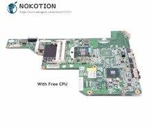 NOKOTION 615849-001 605903-001 материнская плата для ноутбука HP G62 G72 CQ62 HM55 UMA DDR3 основная плата бесплатная Процессор
