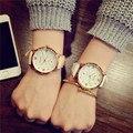 Relojes para mujer pulsera de Moda de Regalo de calidad Amantes Hombres Mujeres Banda de Cuero de Cuarzo Analógico Reloj de pulsera 2016 Nuevos lanzamientos de la Marca