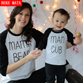 BEKE MATA Family Matching Outfits 2016 Autumn Full Sleeve Mother Daughter Clothes Family Look Mom And Daughter Son T-shirts Sets