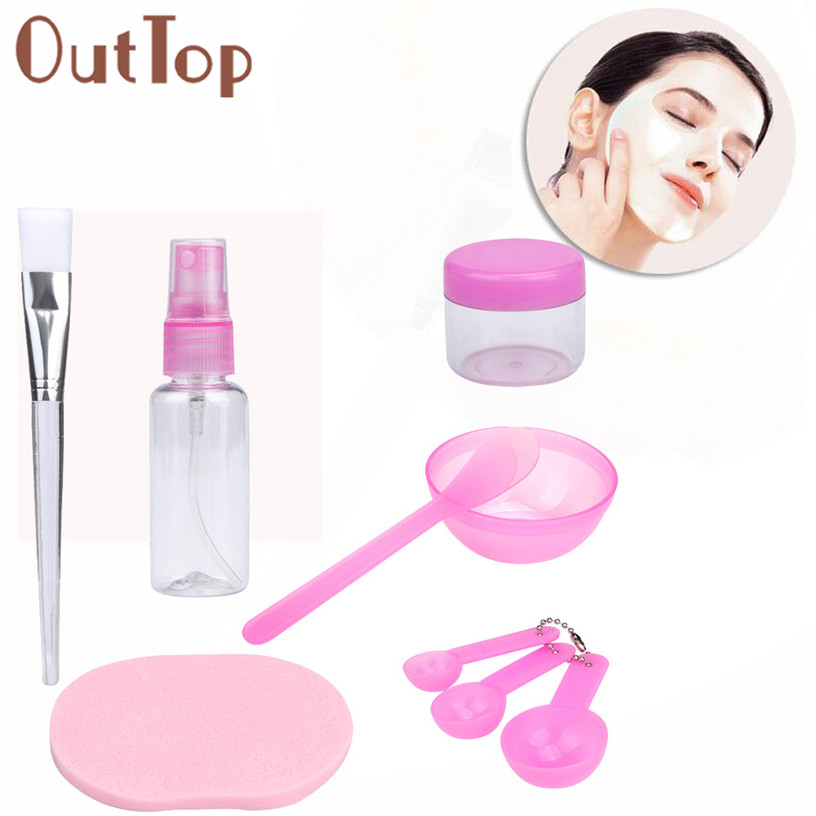 Pretty OutTop New 9pcs/set Makeup Tools Beauty DIY Facial Face Mask Bowl Brush Spoon Stick Tool