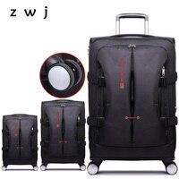 20 24 28 inch trolley bags men travel handbag rolling luggage suitcase