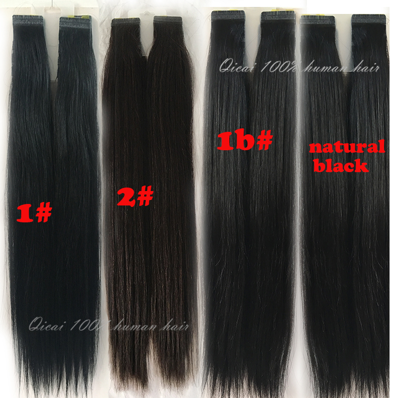 Best Tape Hair Extensions Double Drawn Remy Hair Extension 40pcs