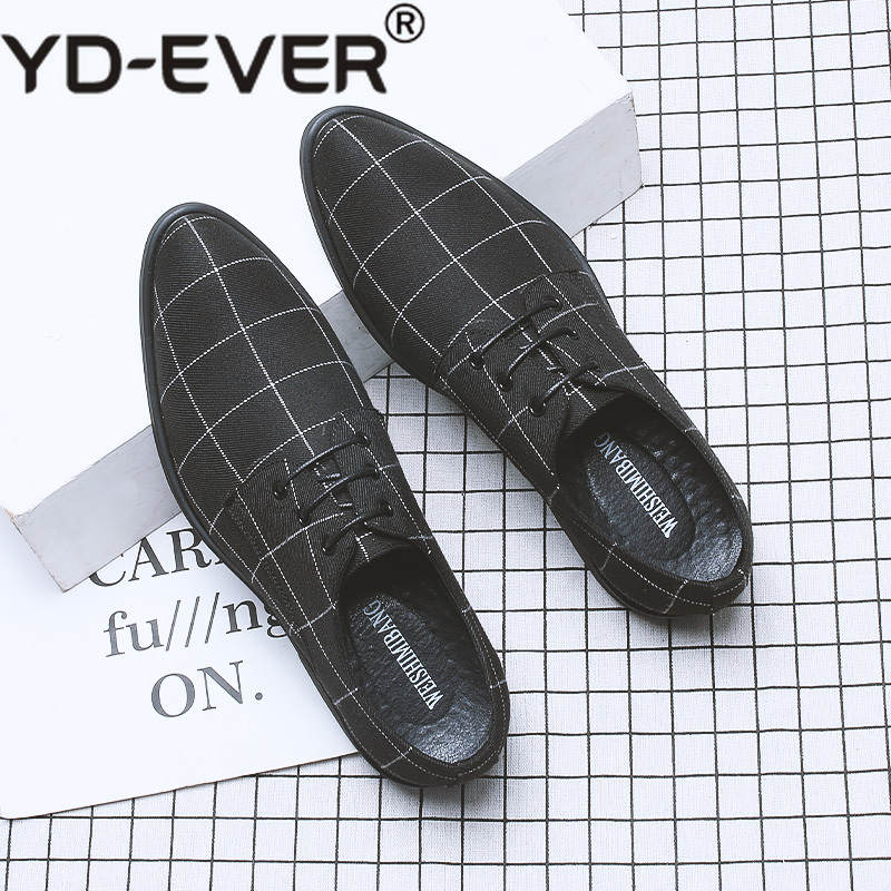 Back To Search Resultsshoes Men's Casual Shoes 2019 England Style Mens Cloth Leather Shoes Designer Classical Lattice Pattern Brand Men Chains Party Lace-up Lazy Loafers