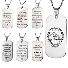Unique To My Son Dog Tag Necklace Chokers Military Fathers Day Family Love Jewelry Stainless Steel Necklaces Choker Torque(China)