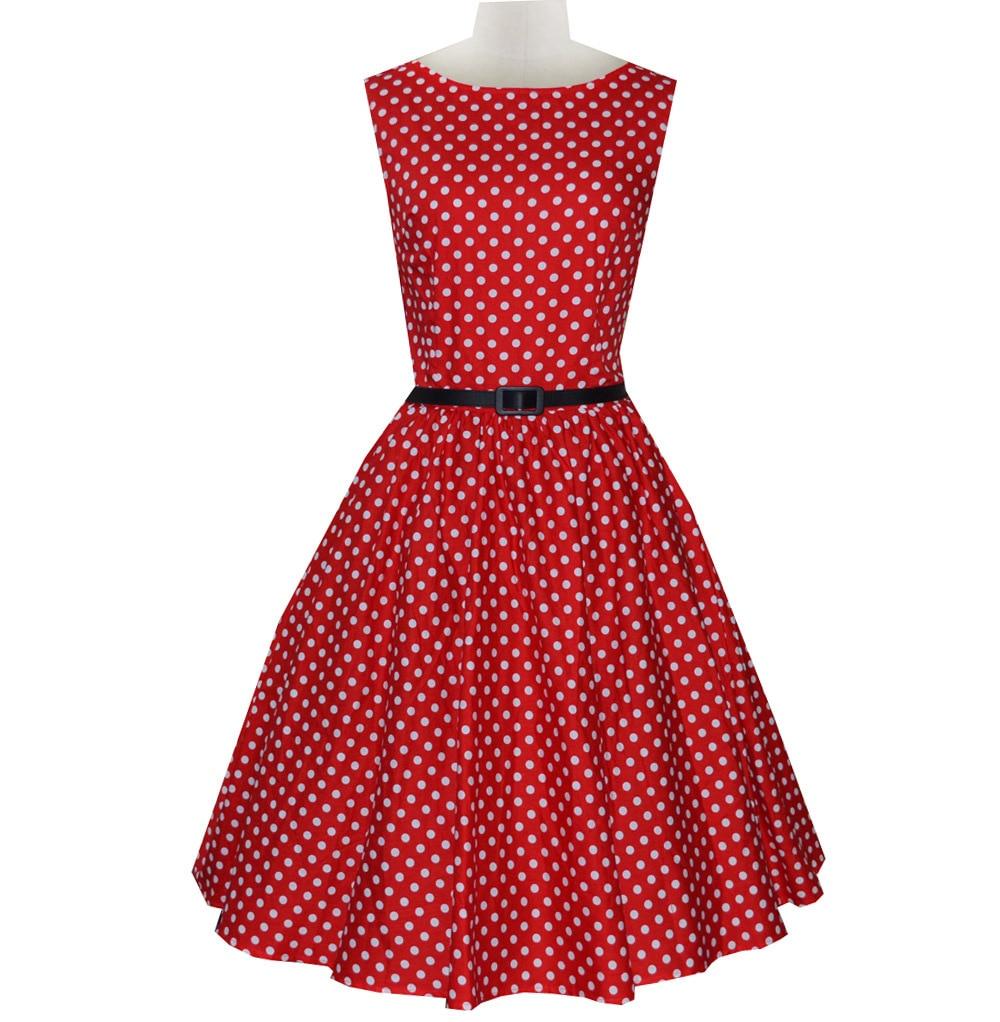 Fashion Women Plus Size Rockabilly Dress Polka Dots Vestidos Vintage