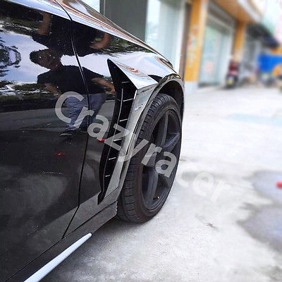 цена на Black Front Side Fender Vent Cover for Mercedes Benz W205 Sedan 4Door 2015 with AMG Logo