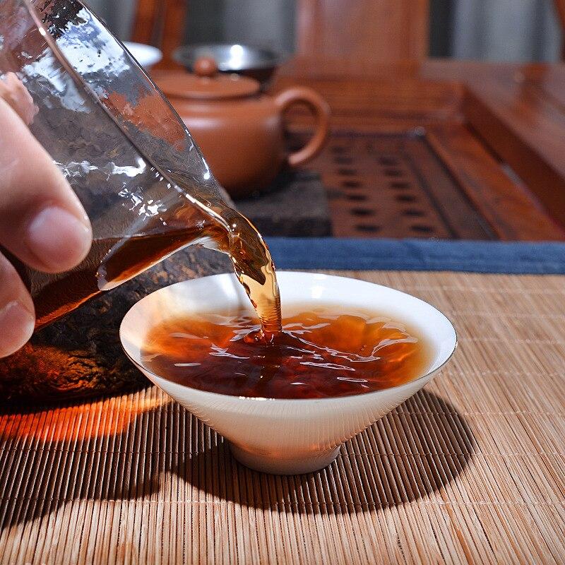 357g Aged Ripe Puer Lao Pu Er Tea Yunnan Chi Tse Beeng Cha Menghai shu Puer Tea Green Food Healthy for Weight Loss Black tea