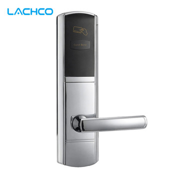 LACHCO  Digital Card Lock Electronic Door Lock For Home Hotel Office Room US Mortise Zinc Alloy L16048BS