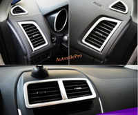 5pcs Chrome Interior Console Dashbaord AC Air Condition Frame Cover Trim For Mitsubishi ASX RVR Outlander Sport 2010 2015