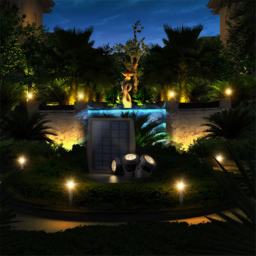 Us 35 71 25 Off Hi Lumix Ip68 Waterproof Solar Pond Lights 18leds 3 Heads Landscape Spot Lighting Outdoor Garden Pool Underwater Decoration Rgb In