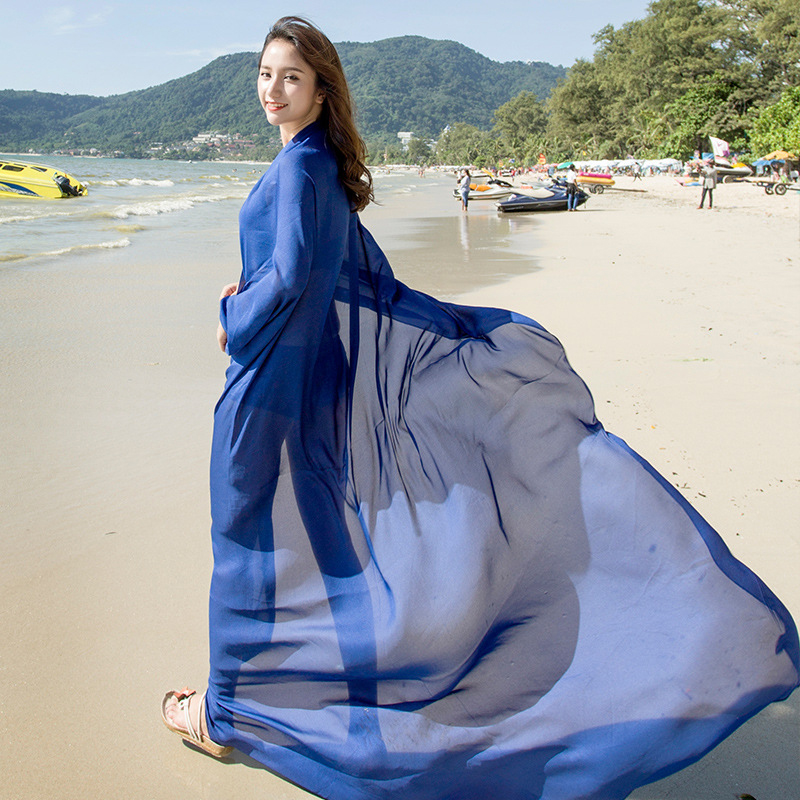 190*140 Natural Women Silk   Scarf   Solid Long Bikini Beach Cover up Shawls and   Wraps   Satin Sunsreen   Scarf   Women Pareo hijab   Scarf