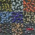 JHNBY 6mm 50 Uds AAA Bicone cristales austriacos cuentas sueltas bola de vidrio suministro chapado color AB pulsera collar fabricación de joyas DIY