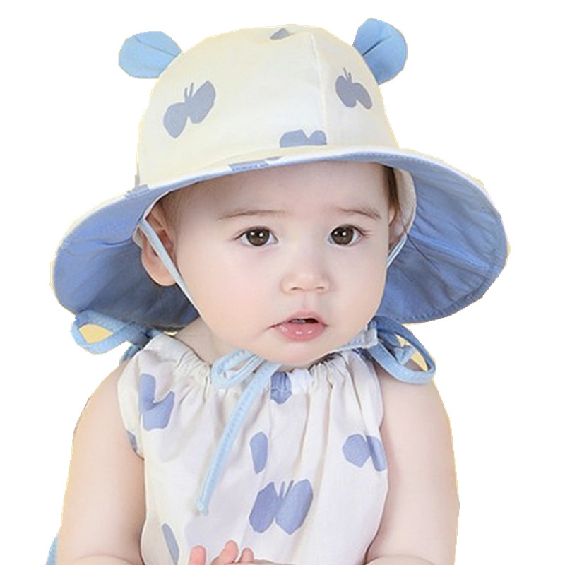 0eb11a57ac96 New Summer Baby Girls Sun Hat Cotton Baby Hat Kids Child Caps Dot Bow Print Bucket  Hat Children Sun Hat Bucket Gorro Bonnet-in Hats   Caps from Mother ...