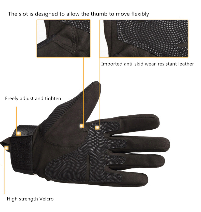 Summer Winter Full Finger Motorcycle Gloves Outdoor Sports Racing Motocross Protective Gear moto racing gloves motocross leather in Gloves from Automobiles Motorcycles