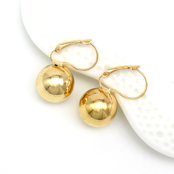 2019 New Fashion Gold color Ball Earrings Simple Metal Round Ball Stud Earrings For Woman Party Wedding Jewelry Femme Brincos