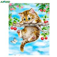 3D Diy Square Diamond Embroidery Animals Cute Kawaii Cat Needlework Cross Stitch Resin Full Diamond Painting
