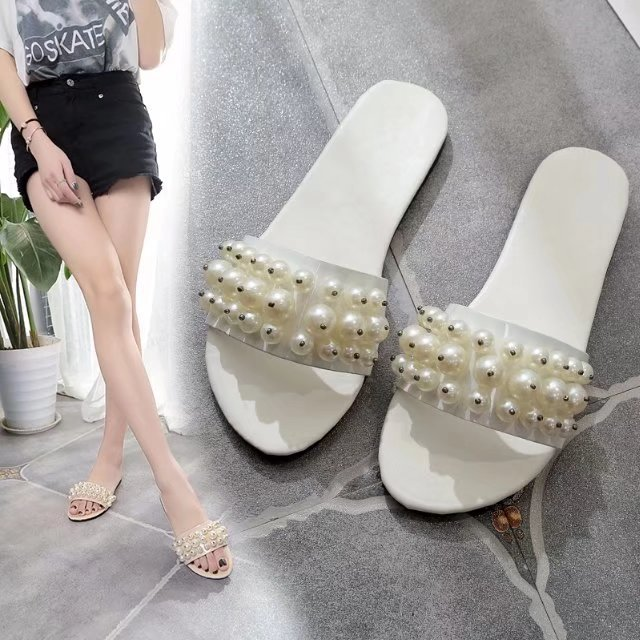 HIZCINTH Slides 2018 Summer Woman Slippers River Pearl Flats Flip Flops Casual Sandals Beach Shoes Woman Cool Slippers Flip Flop yeerfa 2017 wedges sandals beach flowers flip flops slip on flats platform shoes woman casual creepers pearl slippers size 35 41